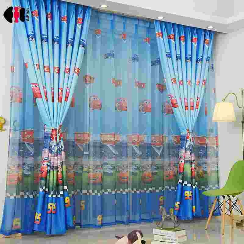 Best High Quality Car Printed Cotton Linen Blackout Curtain With Pictures