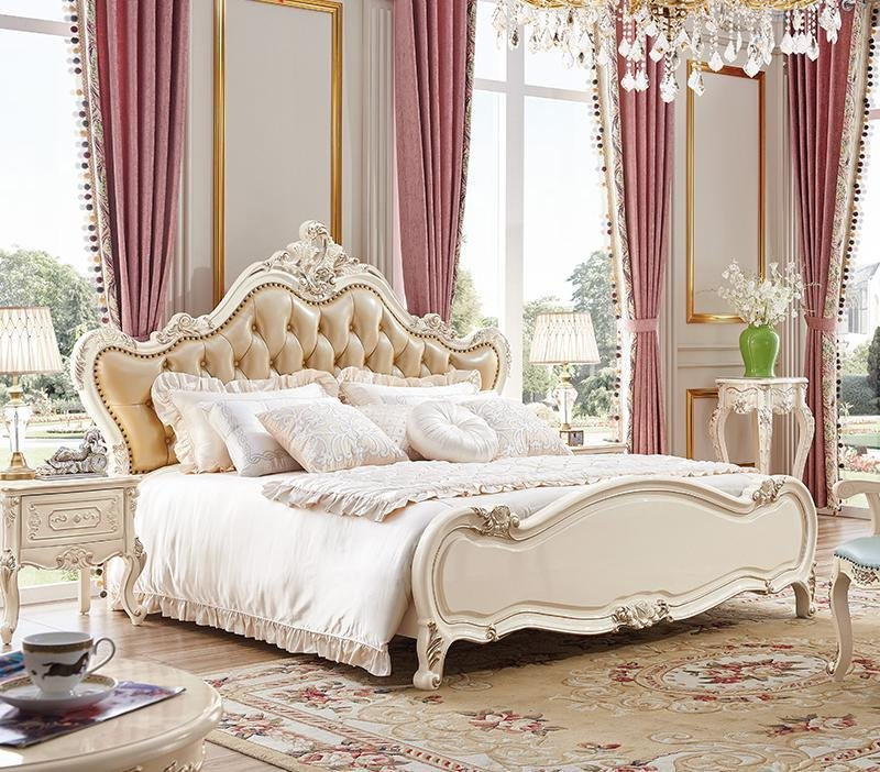 Best High Quality Elegant Bedroom Sets 3 Pcs In 1 Set White Big With Pictures