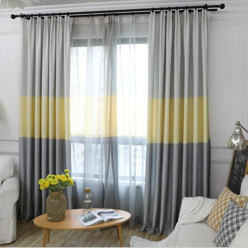 Best Nordic Modern Gradient Blackout Curtains For Living Room With Pictures