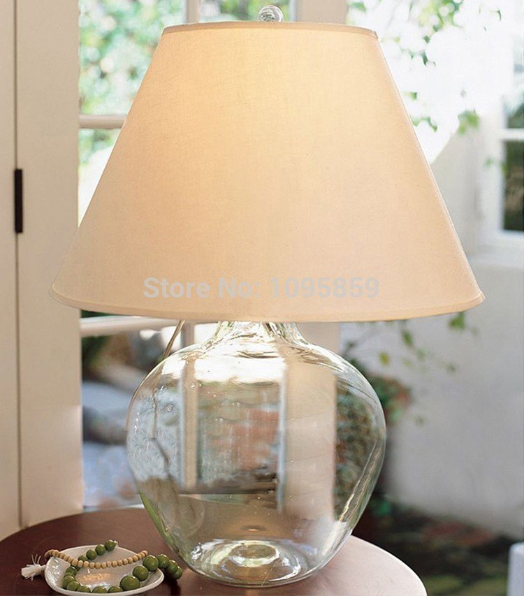 Best Modern Glass Vase Bedroom Table Lamp White Shade Dining Room Restaurant Glass Table Light Lmpara With Pictures