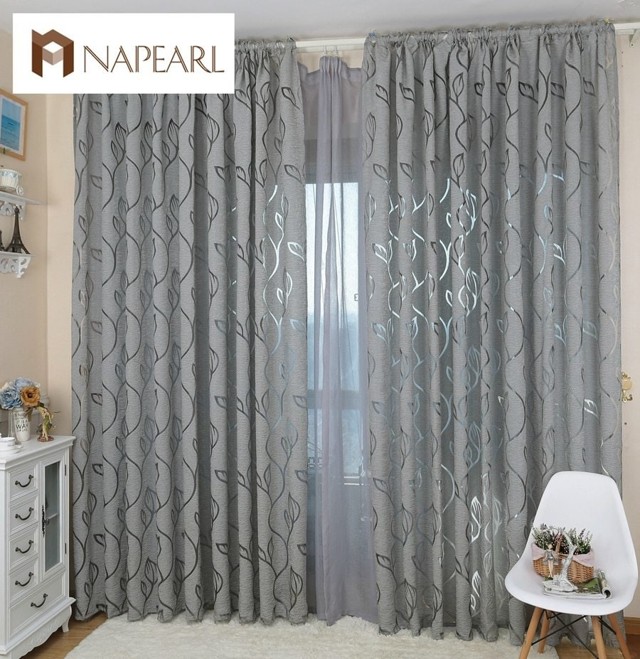 Best Modern Decorative Curtains Jacquard Gray Curtains Window Curtain For Bedroom Window Blind In With Pictures
