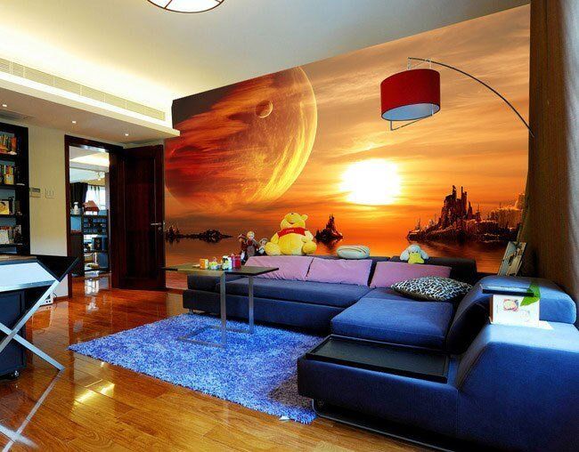 Best Beautiful Starry Sky Tv Background Wall Large Mural With Pictures