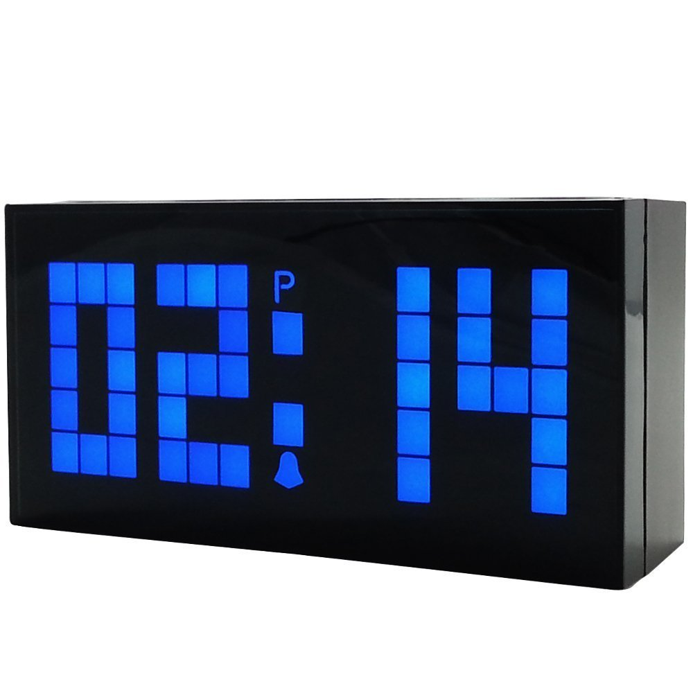 Best Led Digital Clock Electronic Wall Clock Bedroom Snooze With Pictures