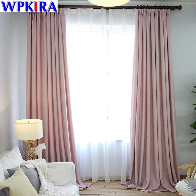 Best Aliexpress Com Buy Blue Solid Curtains Fabrics Modern With Pictures