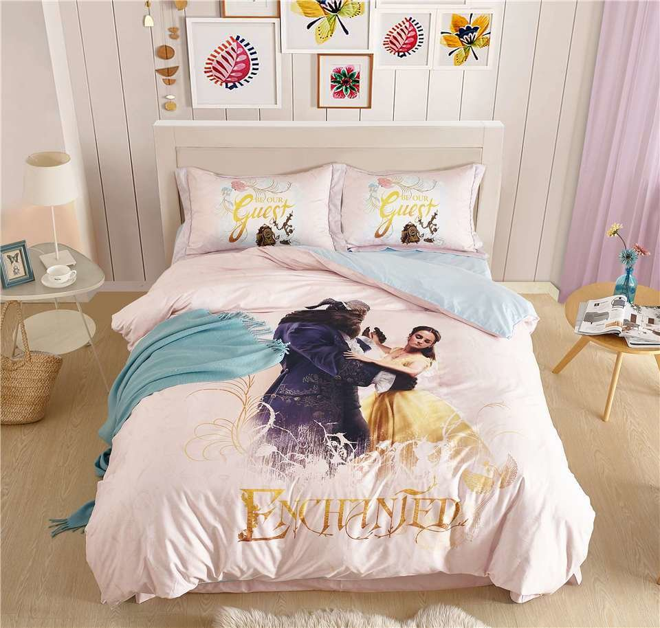 Best 100 Cotton Princess Bedding Set Beauty And The Beast With Pictures