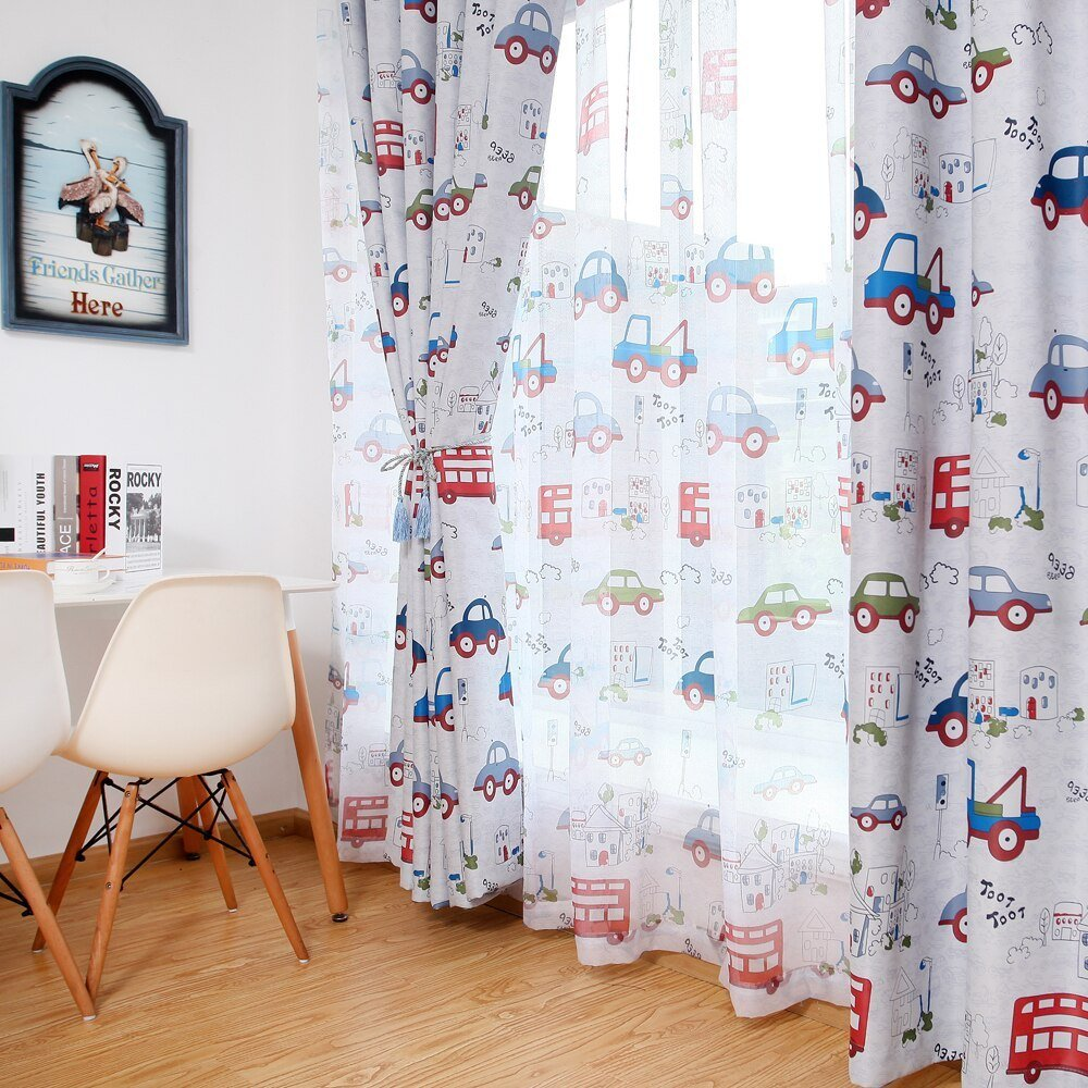 Best Blackout Curtains For The Bedroom Toy Car Kids Room Curtains Window Blinds For Boys Bedroom In With Pictures