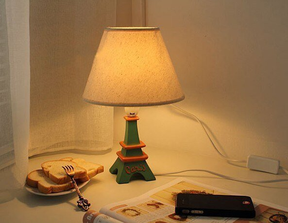 Best New Led Night Light Romantic Diy Eiffel Tower Table Lamp With Pictures