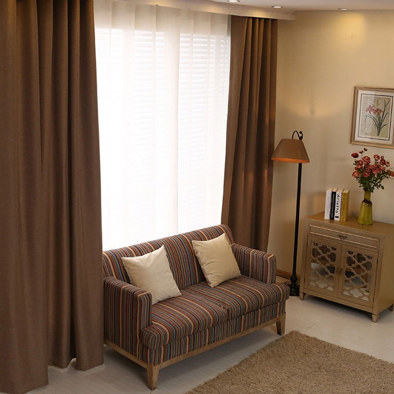 Best Bedroom Curtains Solid Color Japan Window Shades Imitation With Pictures
