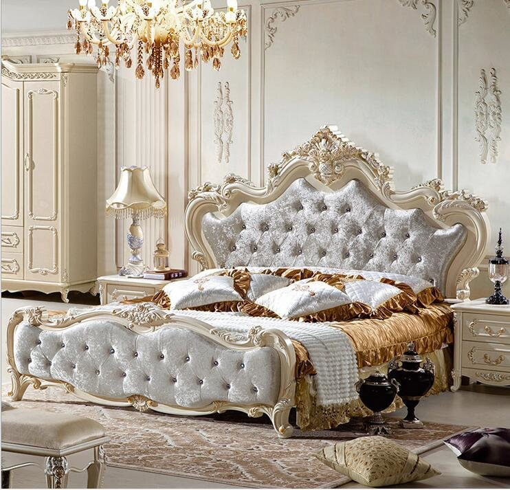 Best French Set Of Complete Sets Of Bedroom Furniture Five Solid Wood Ivory White In Bedroom Sets With Pictures