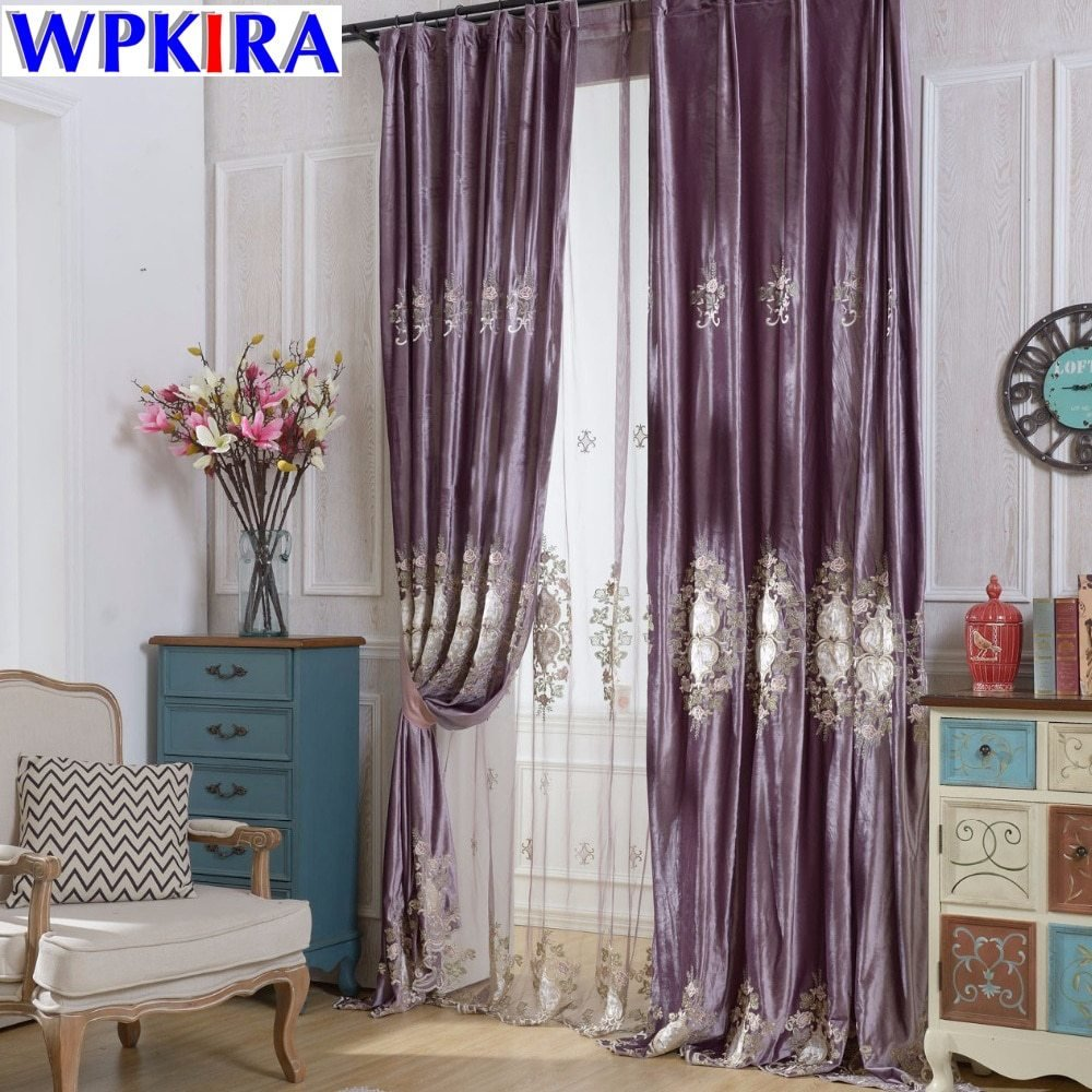 Best Europe Embroidered Window Curtains For The Bedroom Fancy With Pictures