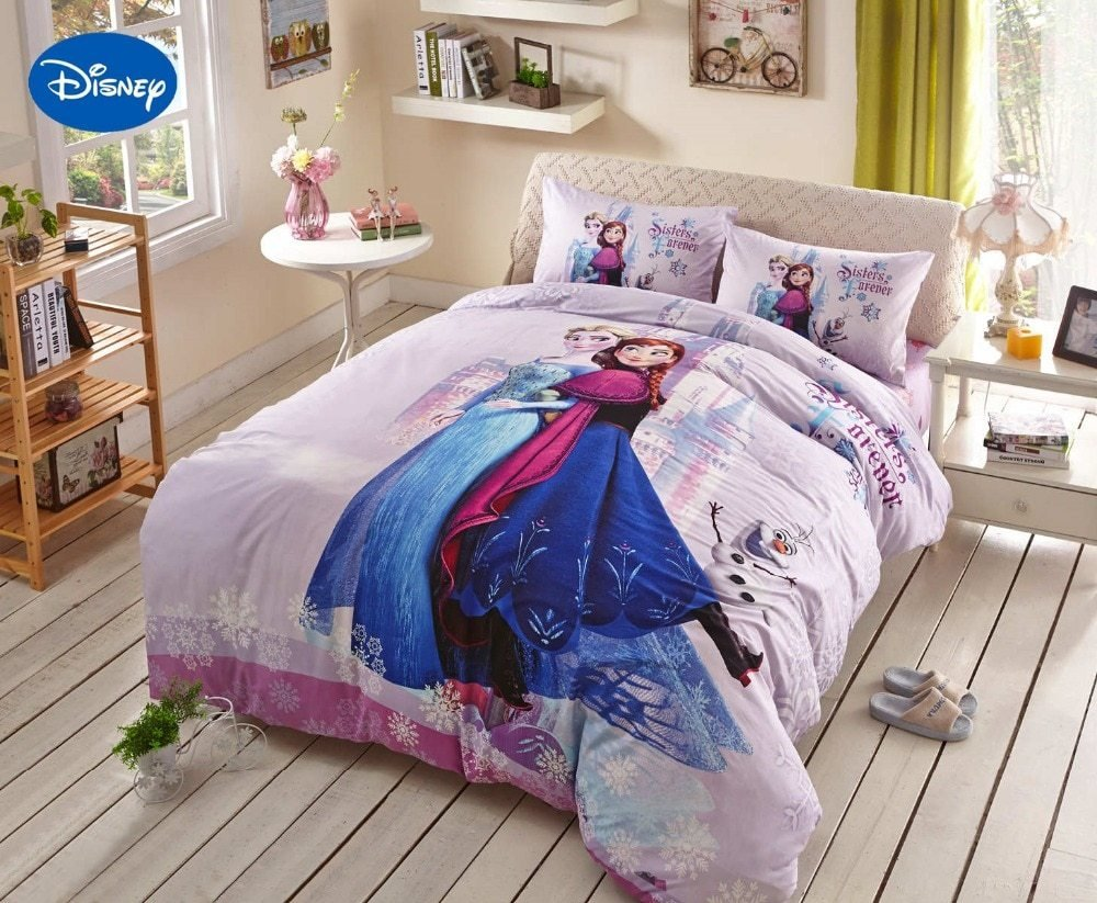 Best Pink Disney Frozen Elsa Anna Character 3D Printed Bedding With Pictures