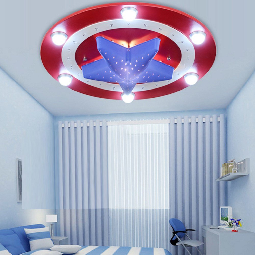 Best Kid S Room Lighting Captain America Ceiling Lights Child With Pictures