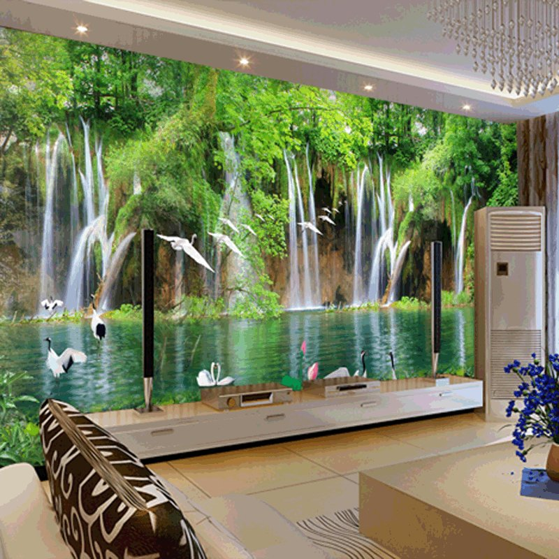 Best Custom Mural Wallpaper Tv Bedroom Wall Natural Small With Pictures