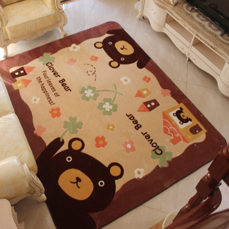 Best S V Cartoon Fabric Surface Carpets Cute Children Crawling With Pictures