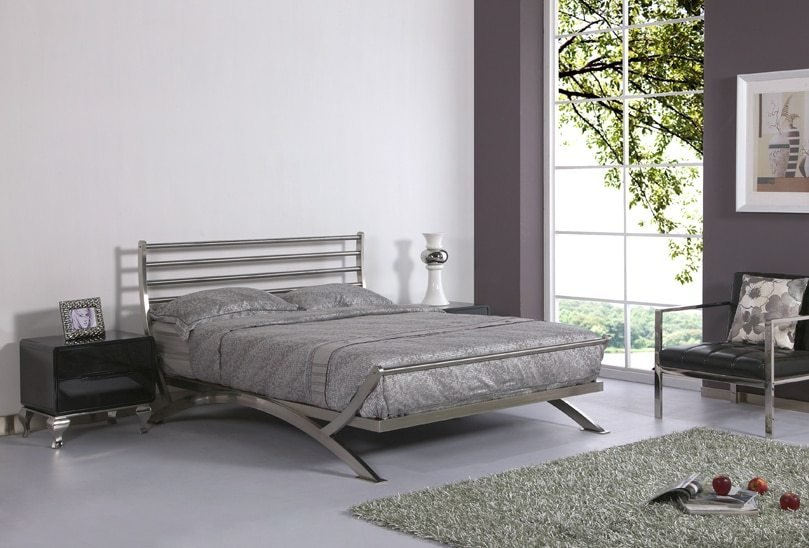 Best Luxury Bed Stainless Steel Metal Bed Iron Bed Bedroom With Pictures