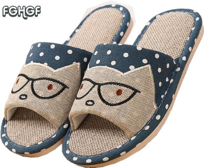 Best Flax Funny *D*Lt Slippers Women House Shoes Indoor Pantufas Cute Bedroom Slippers Home L*V*Rs With Pictures