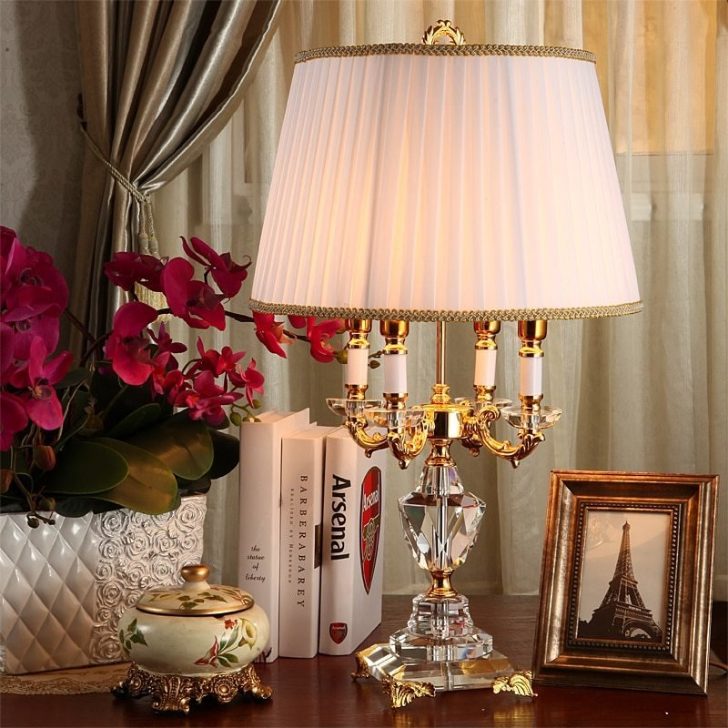Best Fashion Ofhead K9 Crystal Table Lamp Luxury High Quality With Pictures