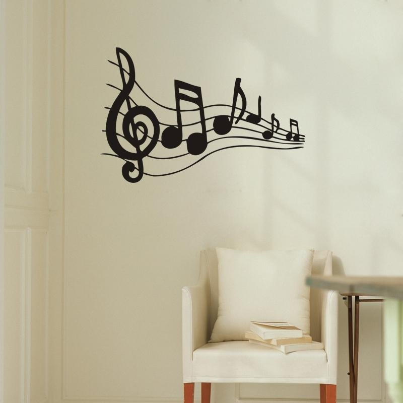 Best Note Music Wall Art Wall Stickers Black Music Decal With Pictures