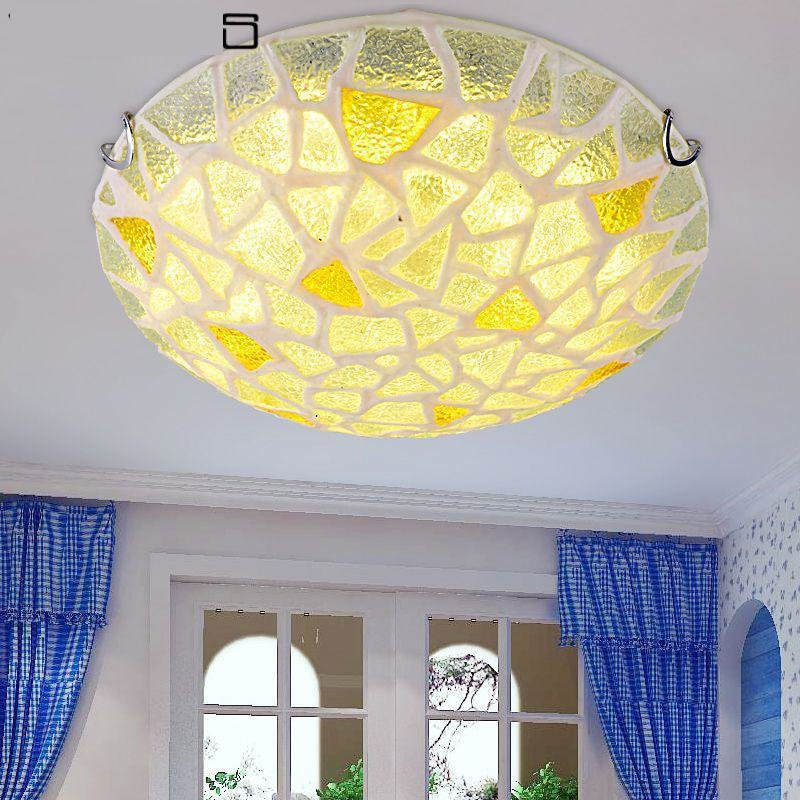 Best Modern Mediterranean Sea Round Glass Ceiling Lights Fancy With Pictures