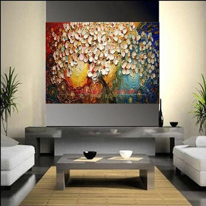 Best Handmade Thickness Abstract On Canvas Pachira Macrocarpa Oil Painting For Bedroom Wall Art Free With Pictures