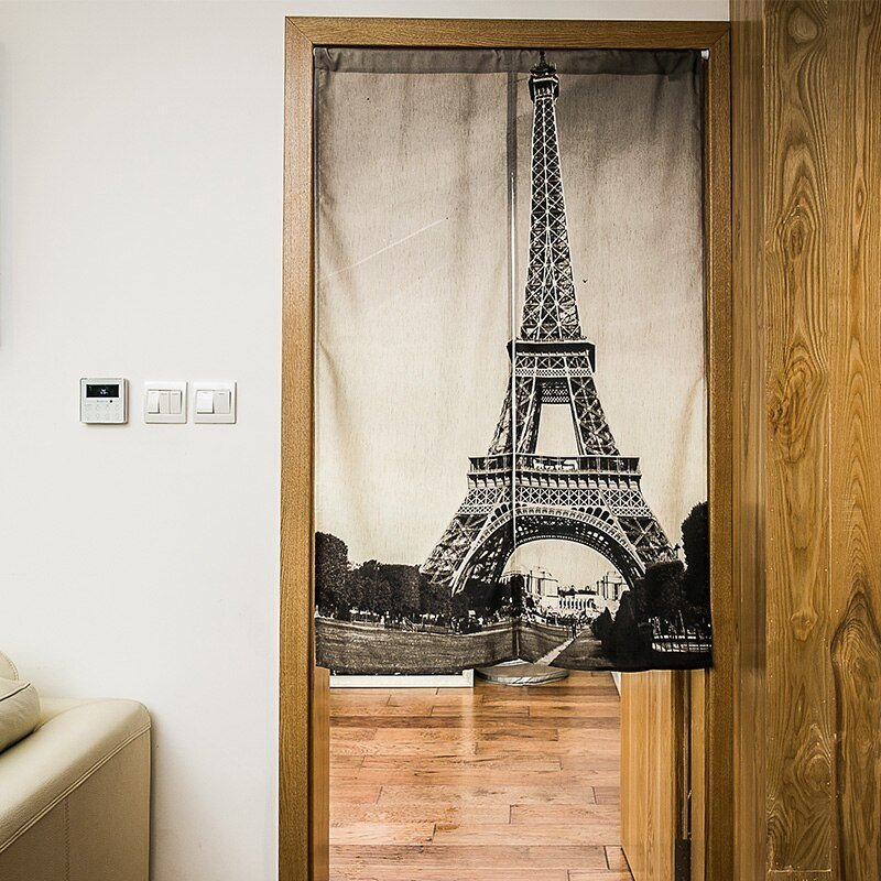 Best Nice Curtains Eiffel Tower Door Curtain Kitchen Bathroom With Pictures