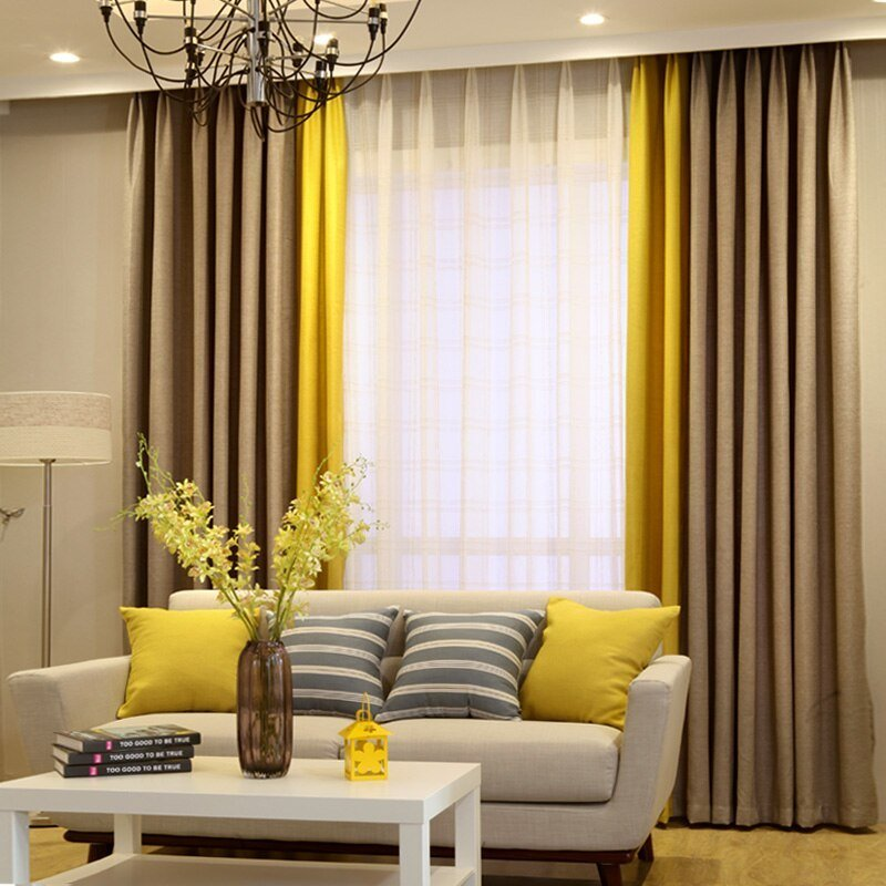 Best Modern Linen Curtain Designs Splice Colors Curtains For With Pictures