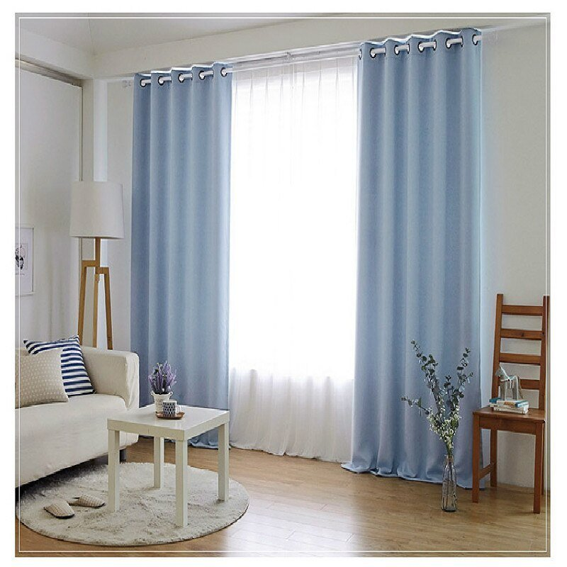 Best Aliexpress Com Buy Bedroom Curtains Simple Solid Color With Pictures