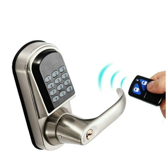 Best Electronic Password Remote Control Button Door Lock Castle With Pictures
