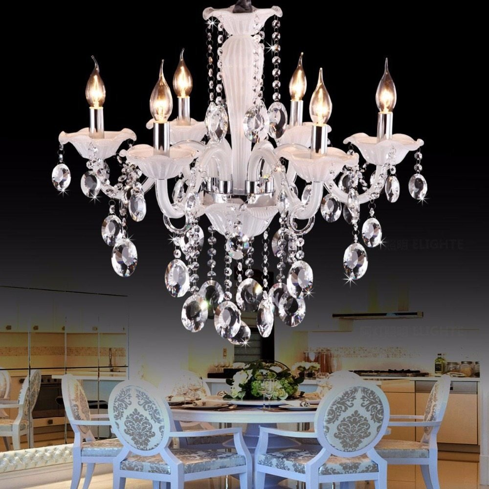Best Cafe White Mini Chandelier Luxury Bedroom 6 Lights Kids With Pictures