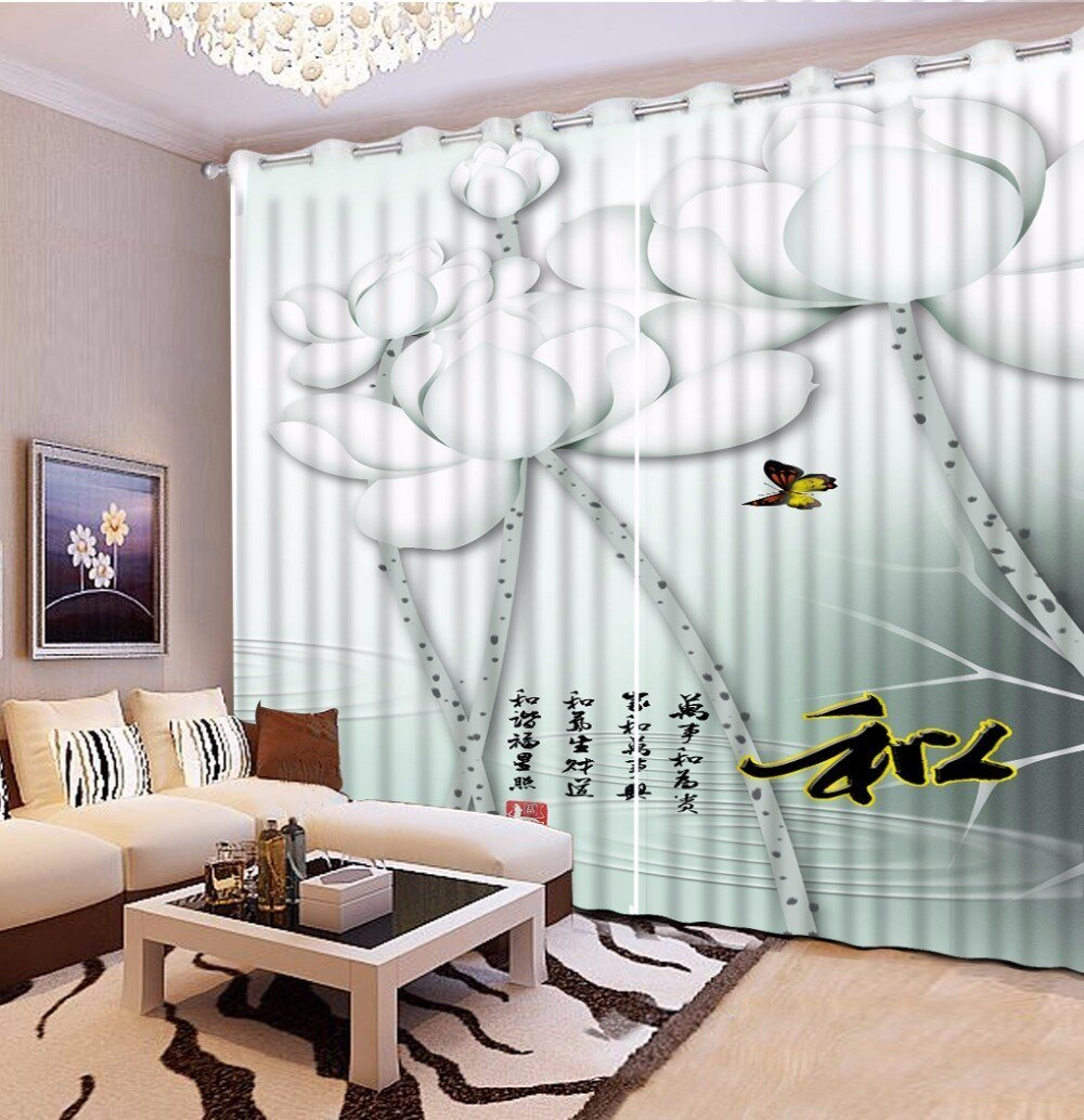 Best Custom 3D Curtains Living Room Printing Sheer Curtains For With Pictures