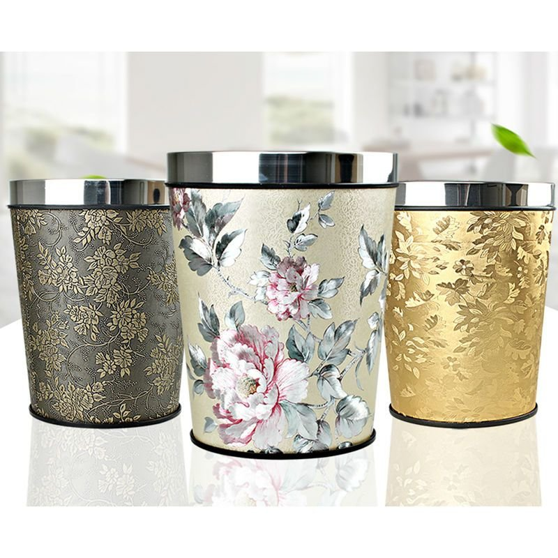 Best European Creative Household Waste Bin Bedroom Kitchen Trash Can Office Paper Basket In Waste With Pictures