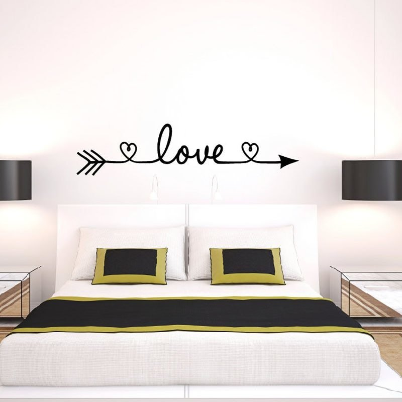 Best New Design Love Arrow Wall Decals Vinyl Removable Bedroom With Pictures