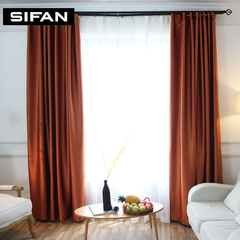Best Solid Colors Blackout Curtains Faux Silk Modern Curtains With Pictures