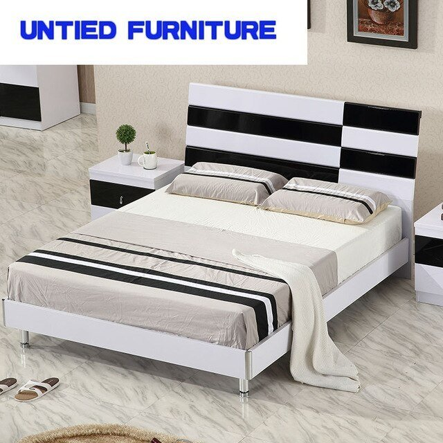 Best White And Black Modern Beds Hot Selling Simple Bed For With Pictures