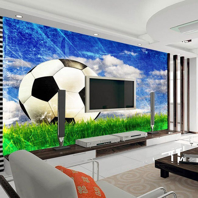 Best Large Mural Living Room Bedroom Study Paper Soccer Sports With Pictures