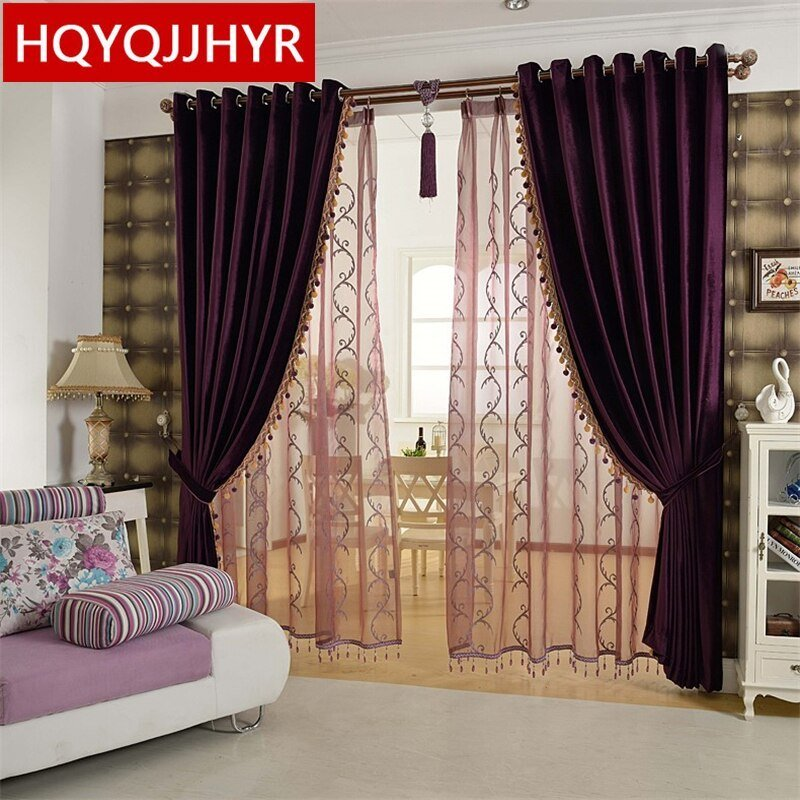 Best European Luxury Aristocratic Purple Bedroom Curtains High With Pictures