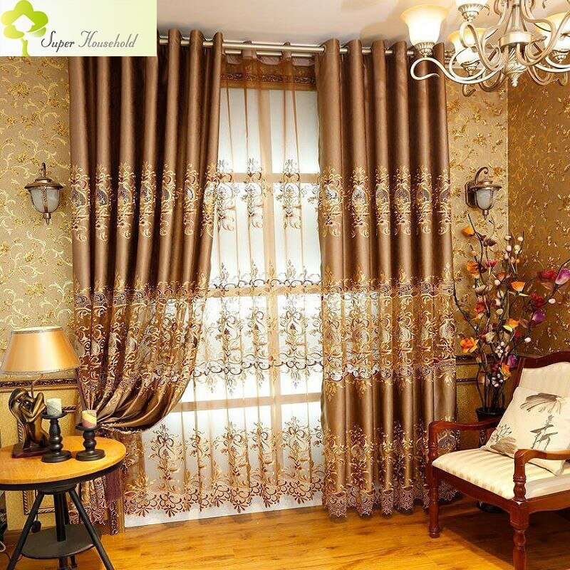 Best 1 Pc Royal Embroidered Window Curtains For Living Room With Pictures