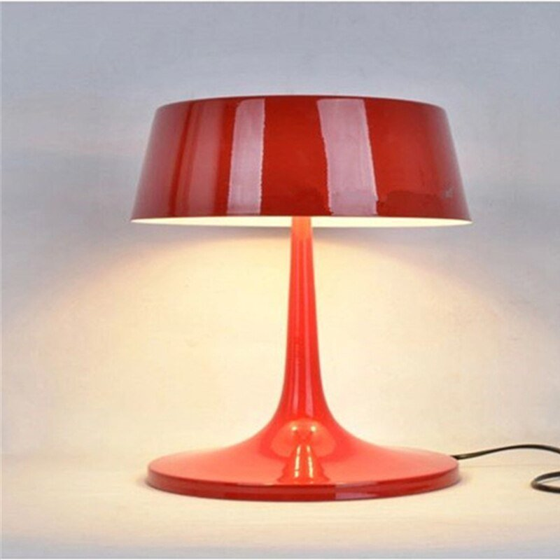 Best White Red Black Contemporary Metal Table Lamp Designer With Pictures