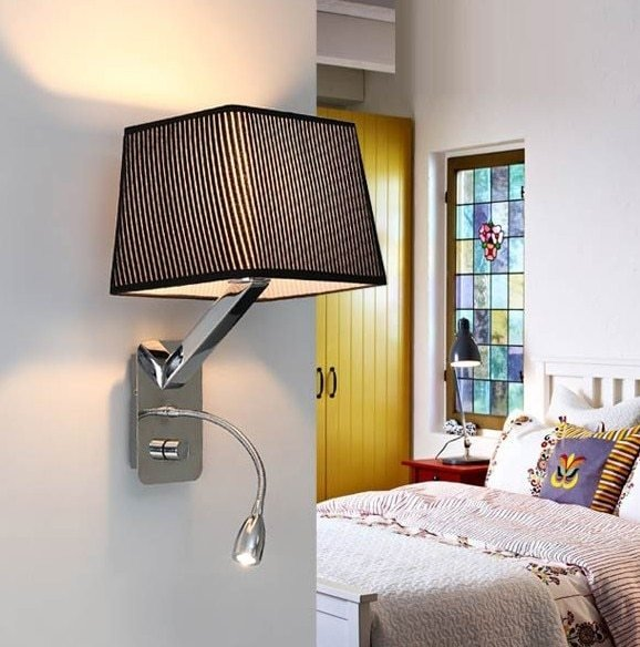 Best Creative Fabric Wall Sconces Band Switch Modern Led With Pictures