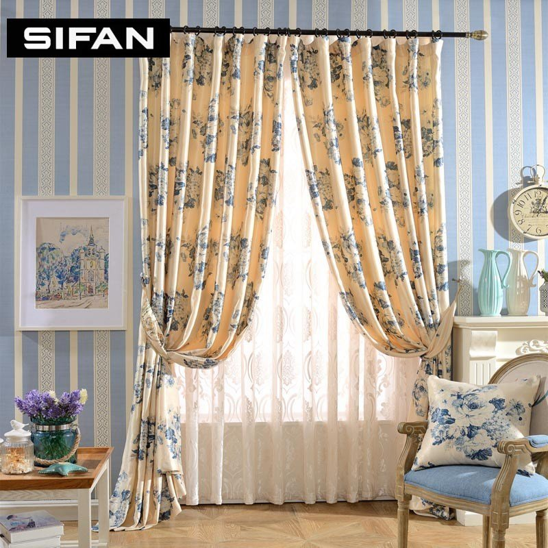 Best Printing Blackout Curtains Fancy Window Curtains For The Bedroom For Living Room Tulle Drapes With Pictures