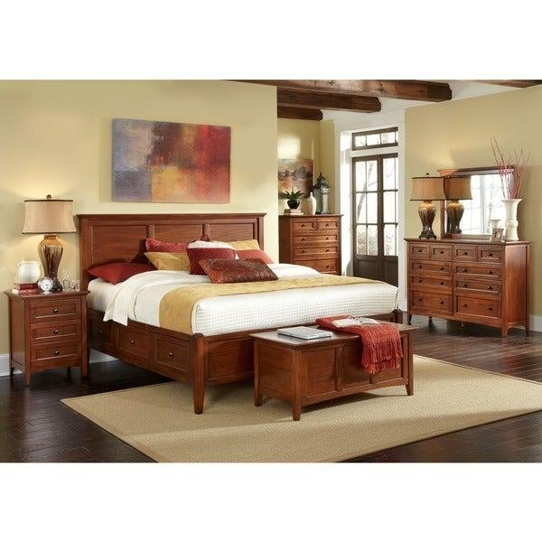 Best Shop Simply Solid Aiden Solid Wood 5 Piece Queen Bedroom With Pictures