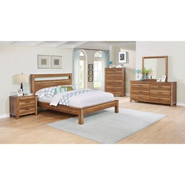 Best Shop Nicolas Brown Acacia Wood 6 Piece Bedroom Set Free With Pictures