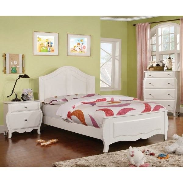 Best Shop Furniture Of America Young Olivia White Solid Wood 3 Piece Bedroom Set Free Shipping With Pictures