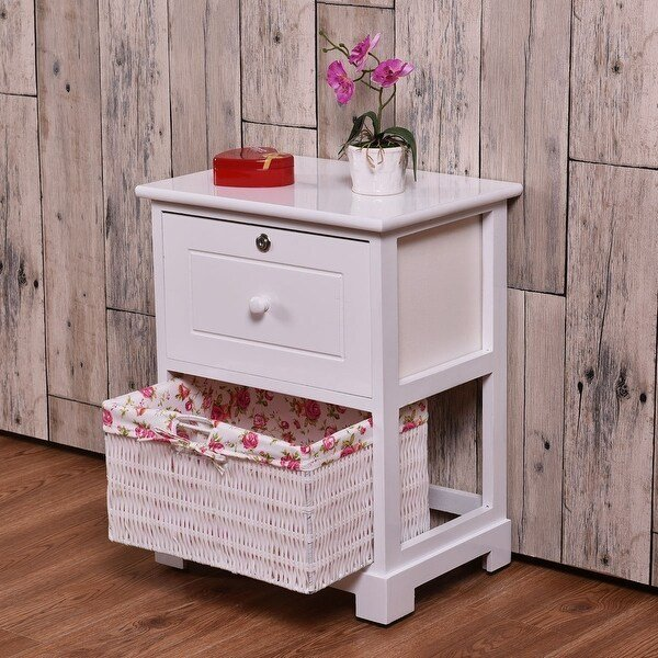 Best Costway White End Side Accent Table Night Stand Bedroom W With Pictures