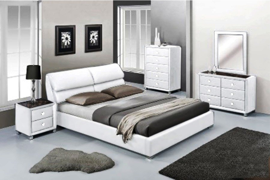 Best Virgo Bedroom Set White 2 Brisbane Wholesale Furniture With Pictures