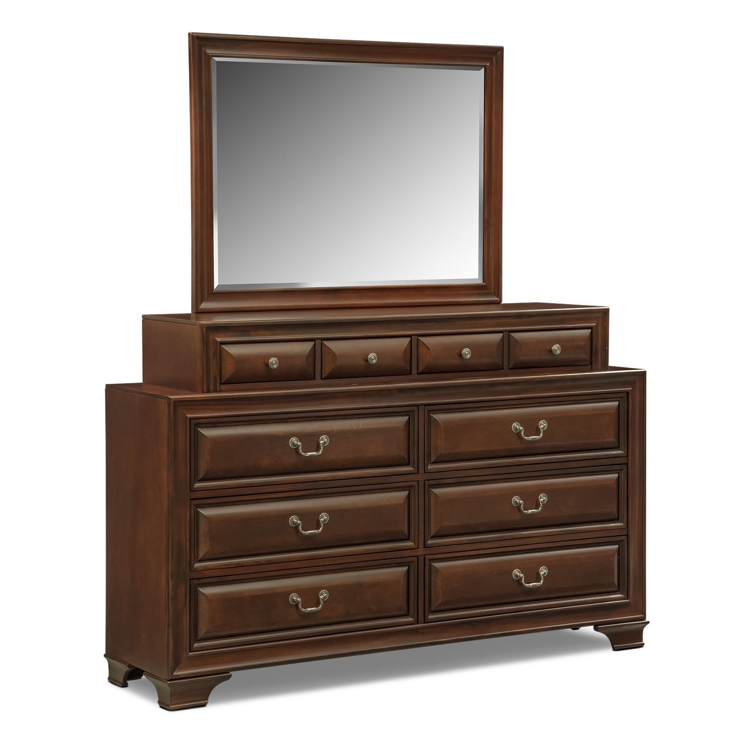 Best Sanibelle Dresser And Mirror Set Mahogany Value City With Pictures