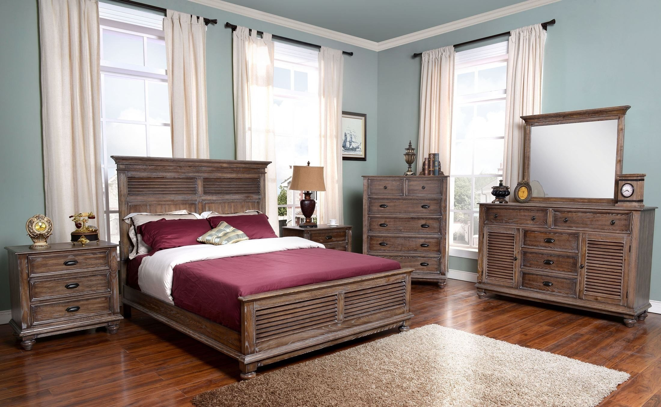 Best New Classic Lakeport Pewter Panel Bedroom Set Lakeport With Pictures
