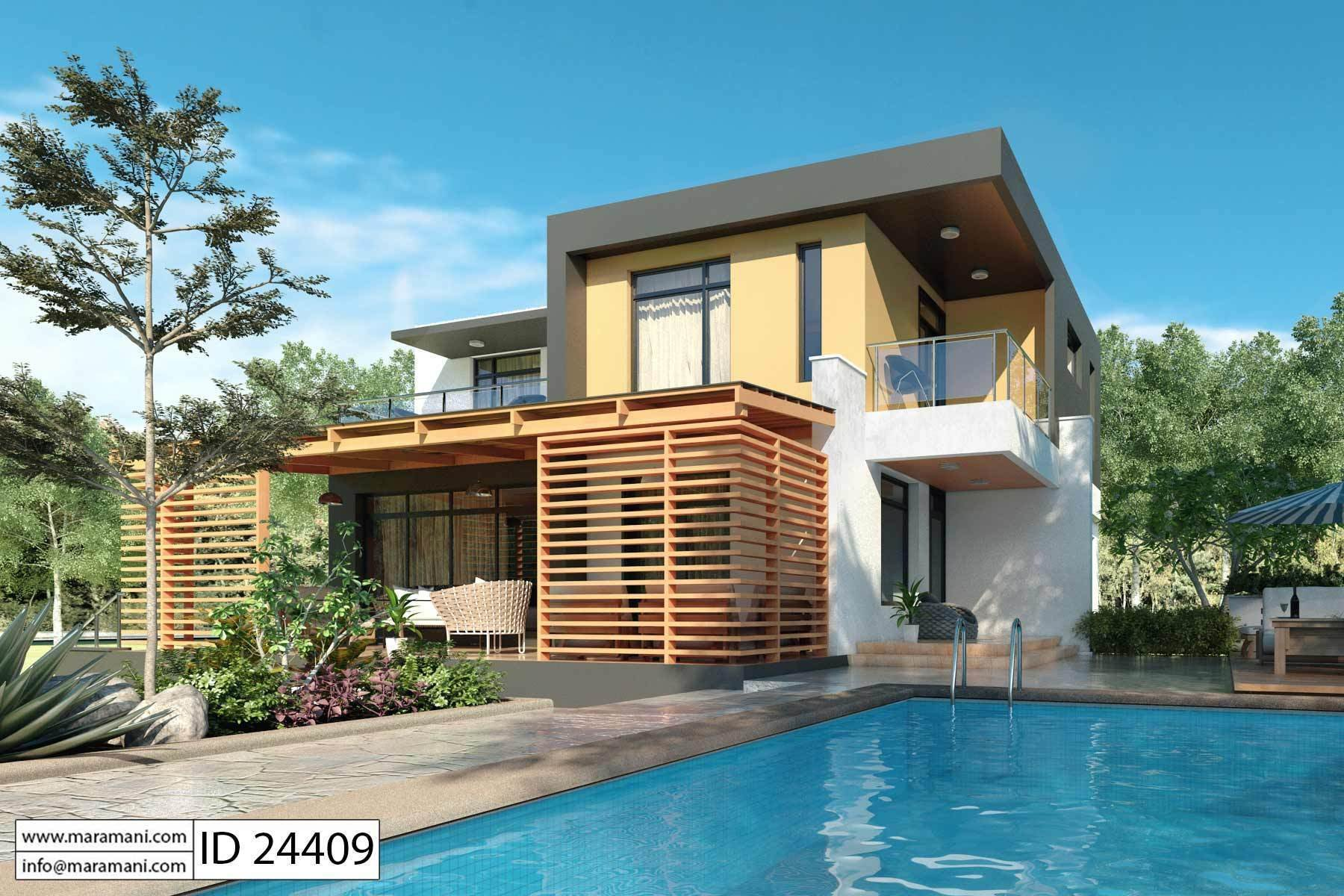 Best Modern 4 Bedroom House Plan Id 24409 Designs By Maramani With Pictures