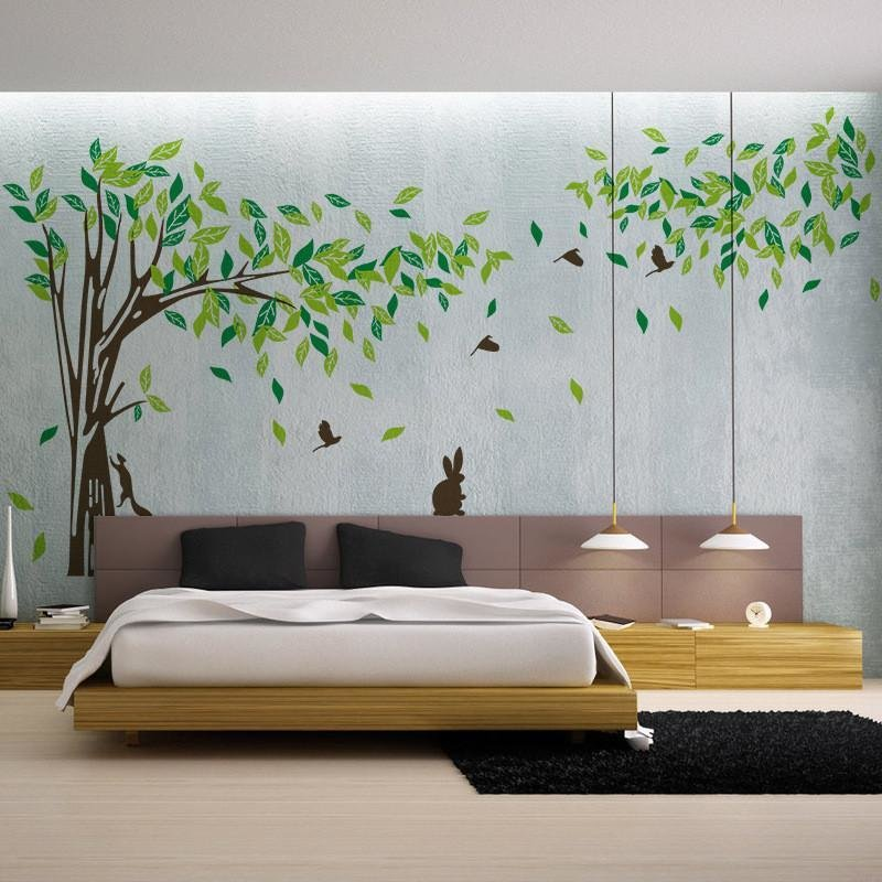 Best Living Room Wall Decals Bedroom Wall Sticker Tv Background Wall Decal – Ellaseal With Pictures