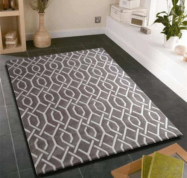 Best Modern Contemporary Slate Grey Bedroom Area Rug Rug With Pictures